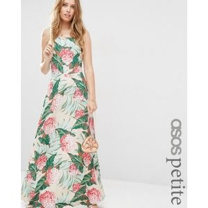 NWT ASOS Petite Floral Print Tie Back Maxi Dress 2